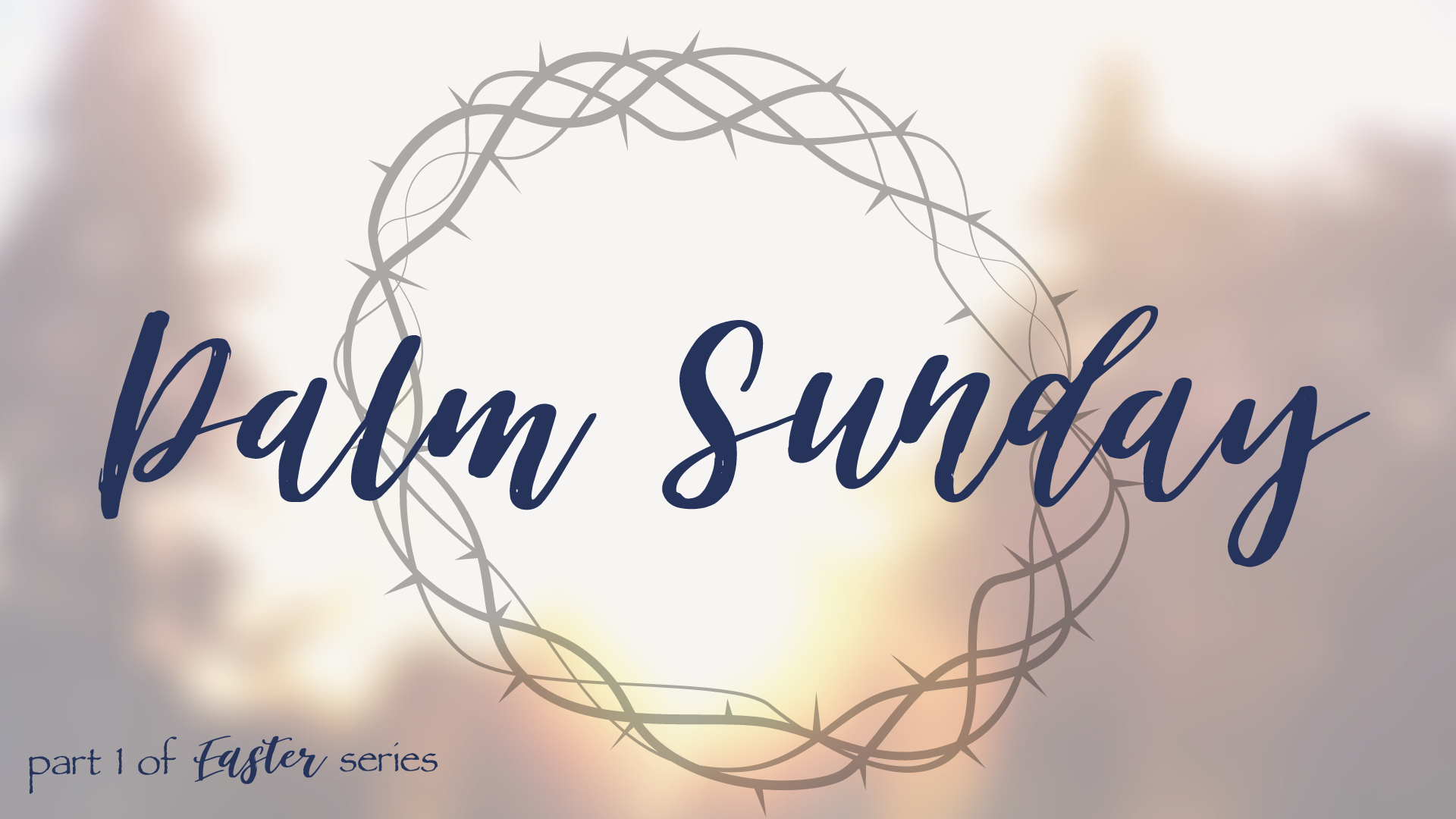 Palm Sunday – Jesus is the King of Peace